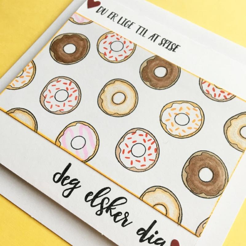Materialer:  Du er en snack , Jeg elsker dig .