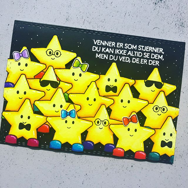 Et virkelig fint kort designet af Nadja med Three Scoops RockStar-stempelsæt.