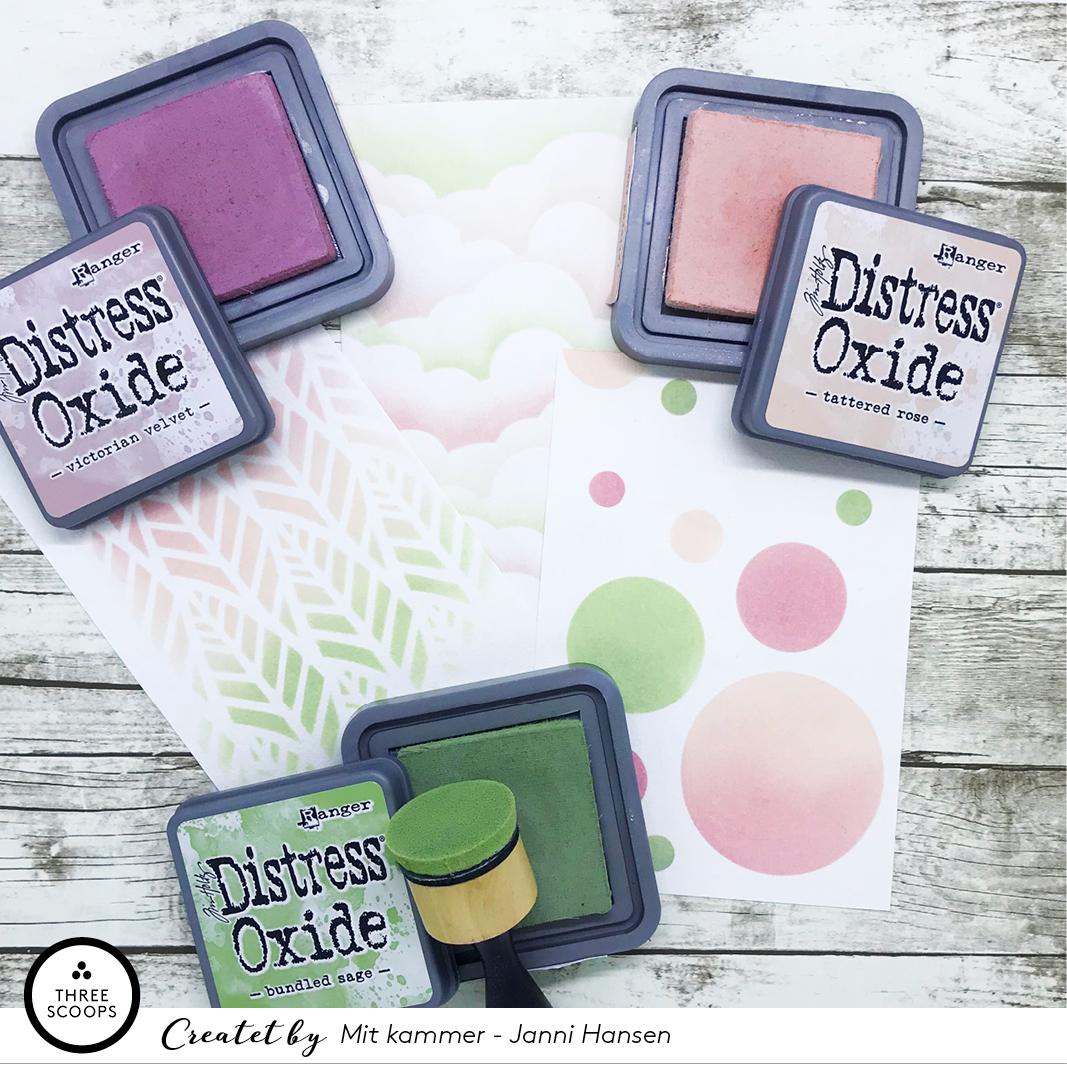 TIP:  Et lille tip – den farve kombination er også super lækker med    Fjer-stencil    og    sky stencil   .