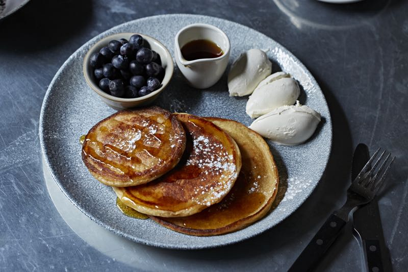 Pomona's - Scotch pancakes, mascarpone, berries, syrup 3, Steven Joyce photo credit.jpg