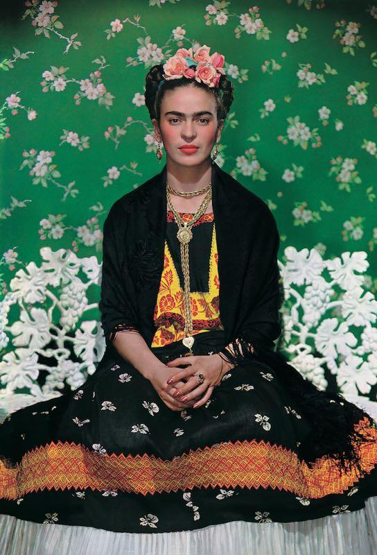 Frida Kahlo on the bench 1939, photograph by Nickolas Muray©Nickolas Muray Photo Archives
