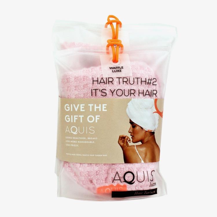 AQUIS Waffle Luxe Hair Towel & Turban Duo in Millennial Pink £65 (1).jpg