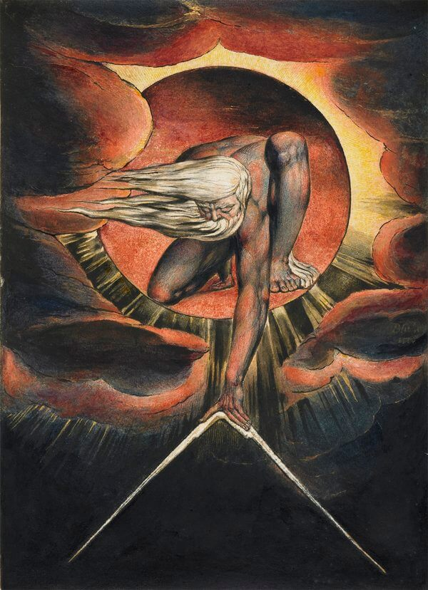 William Blake  'Europe' Plate i: Frontispiece, 'The Ancient of Days'  1827 (?) Whitworth Art Gallery (Manchester, UK)