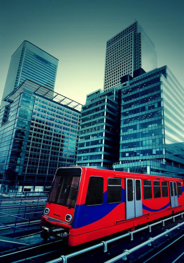 Docklands Light Railway, aka the DLR