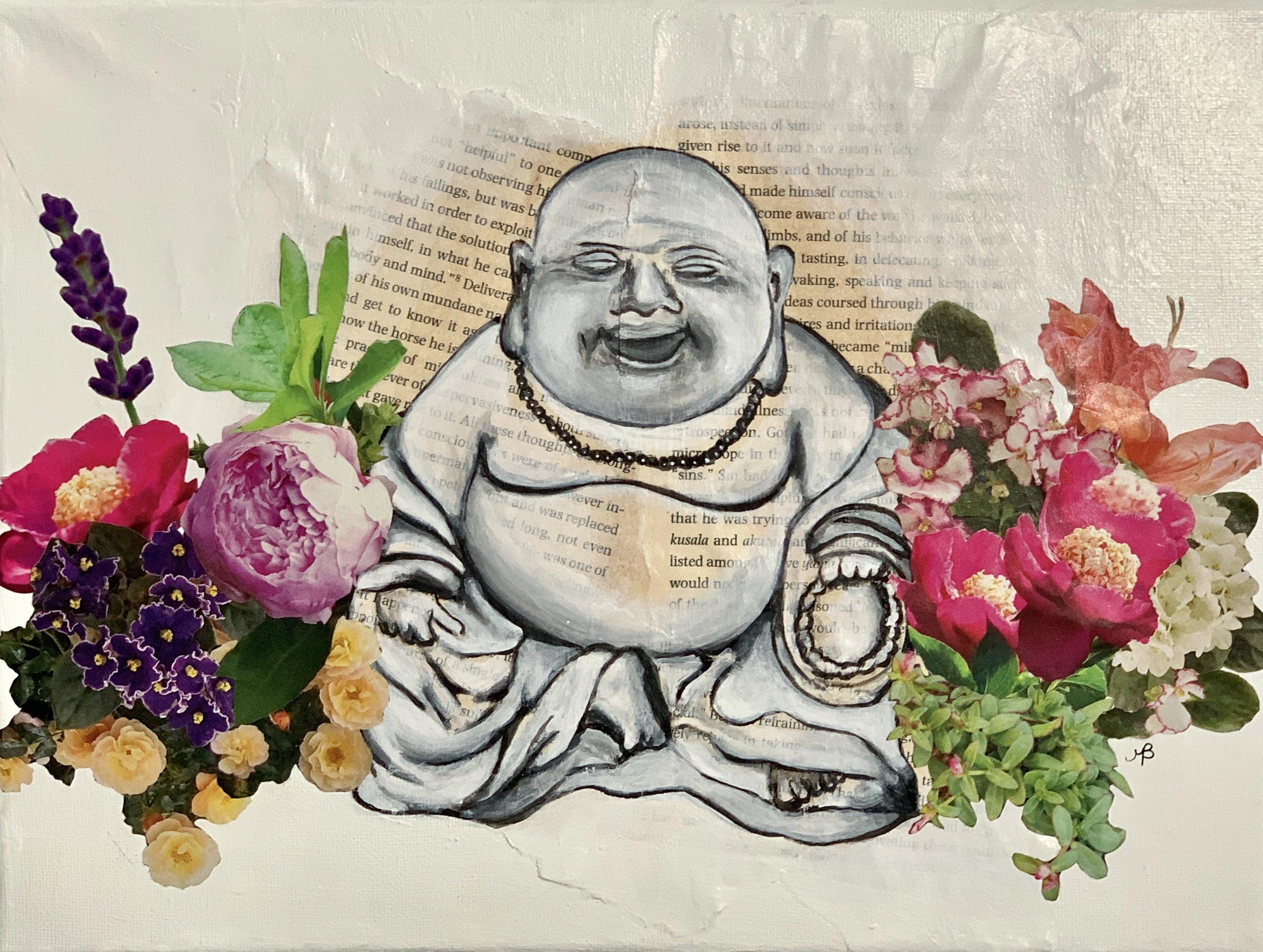 """Body and mind (Buddha)"" 9x12"" $250"
