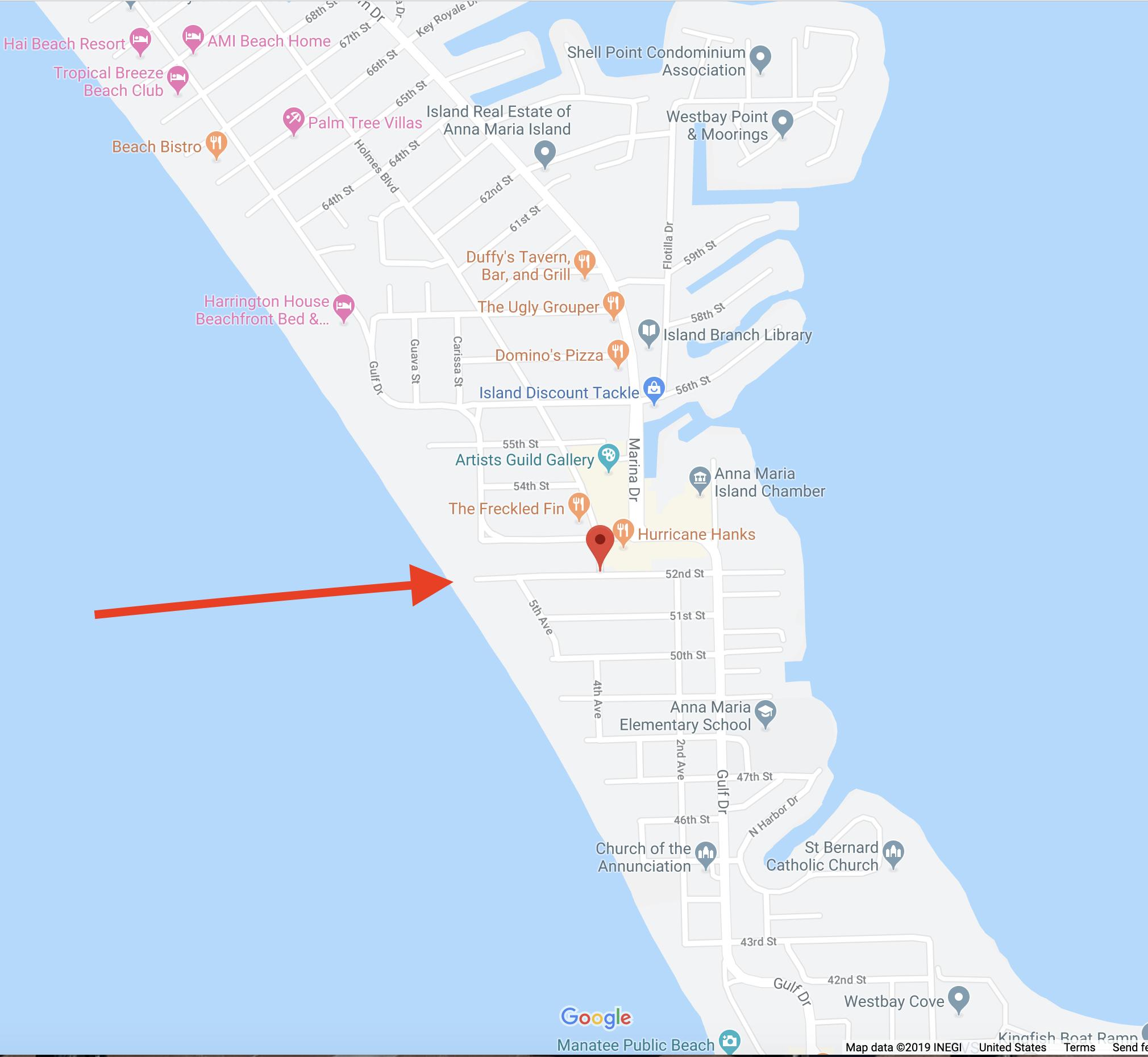 Location for Beach Yoga on Anna Maria Island.