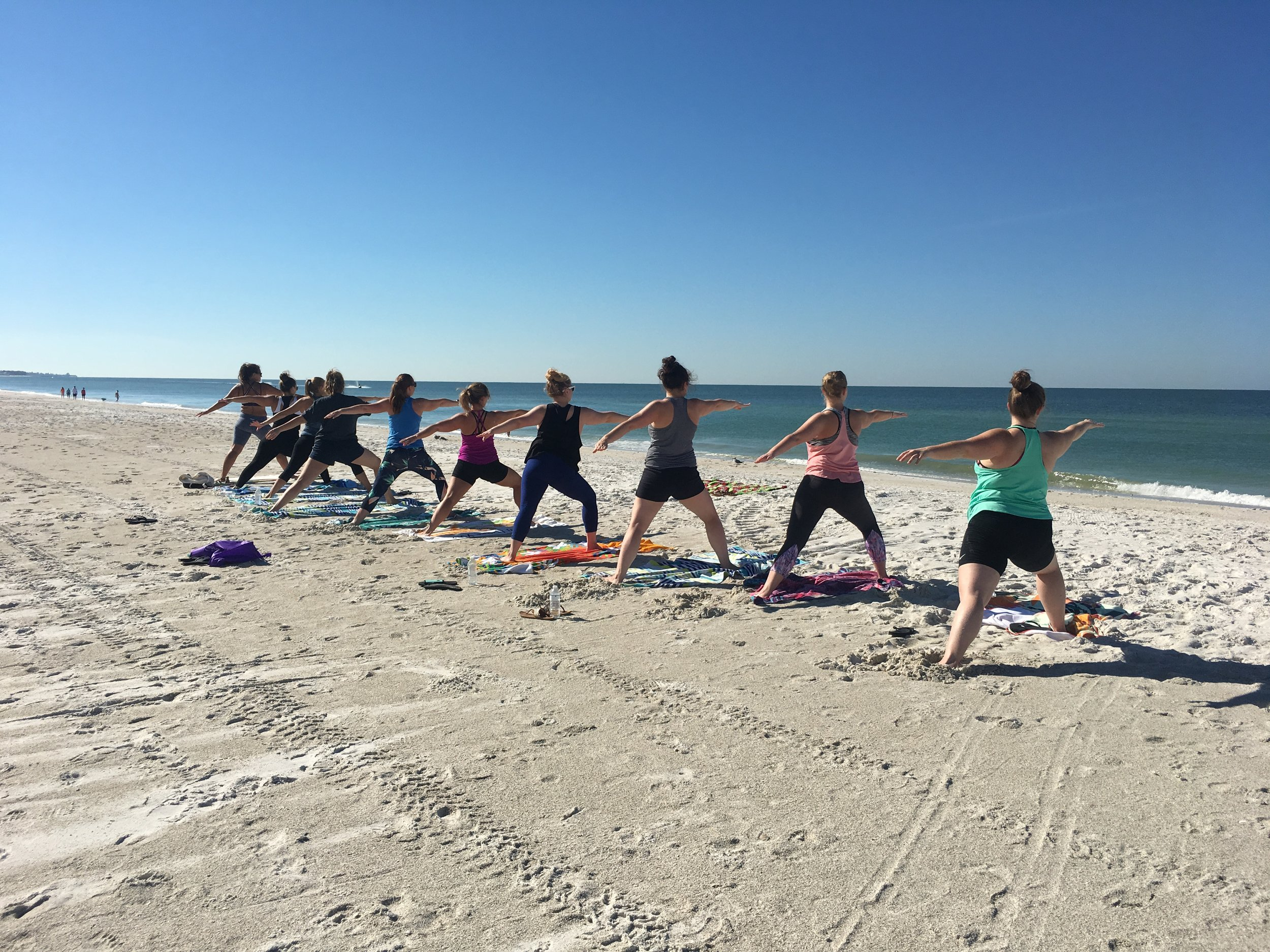 Beach Yoga on Anna Maria Island