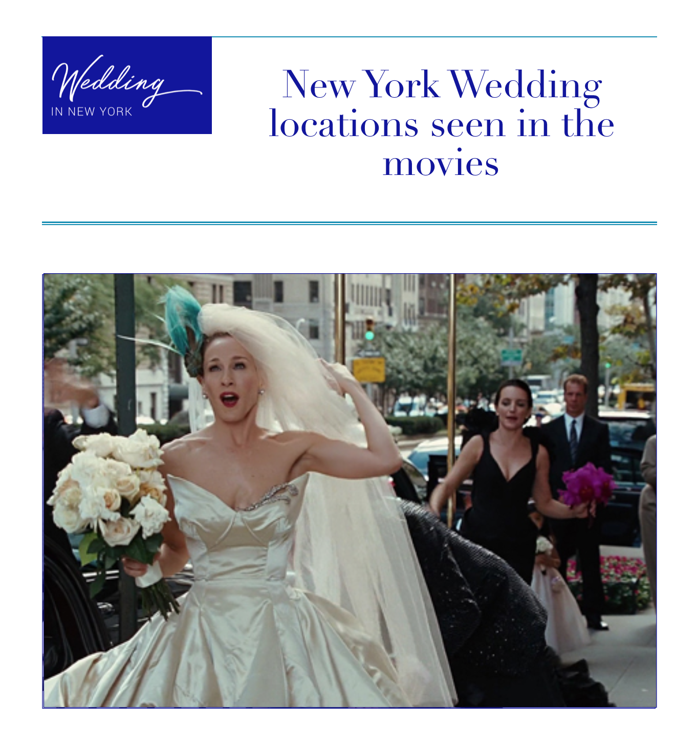 New york wedding scenes from the movies
