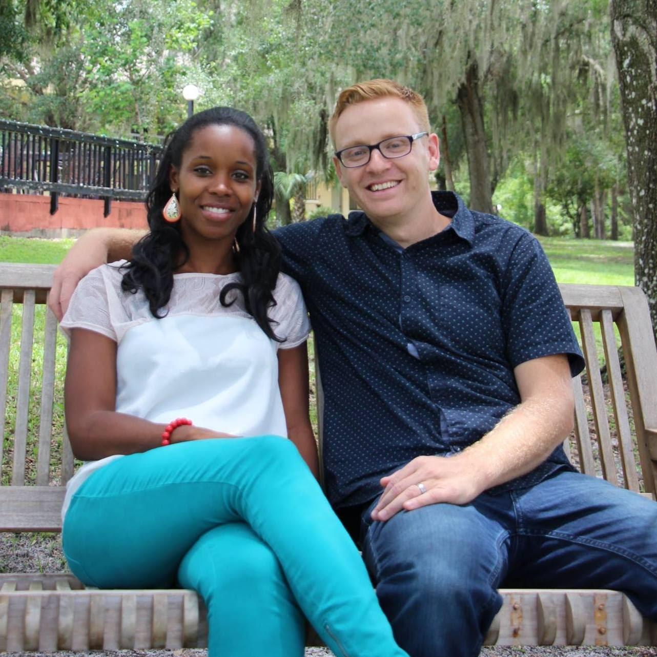 Caleb and his wife Latoya.