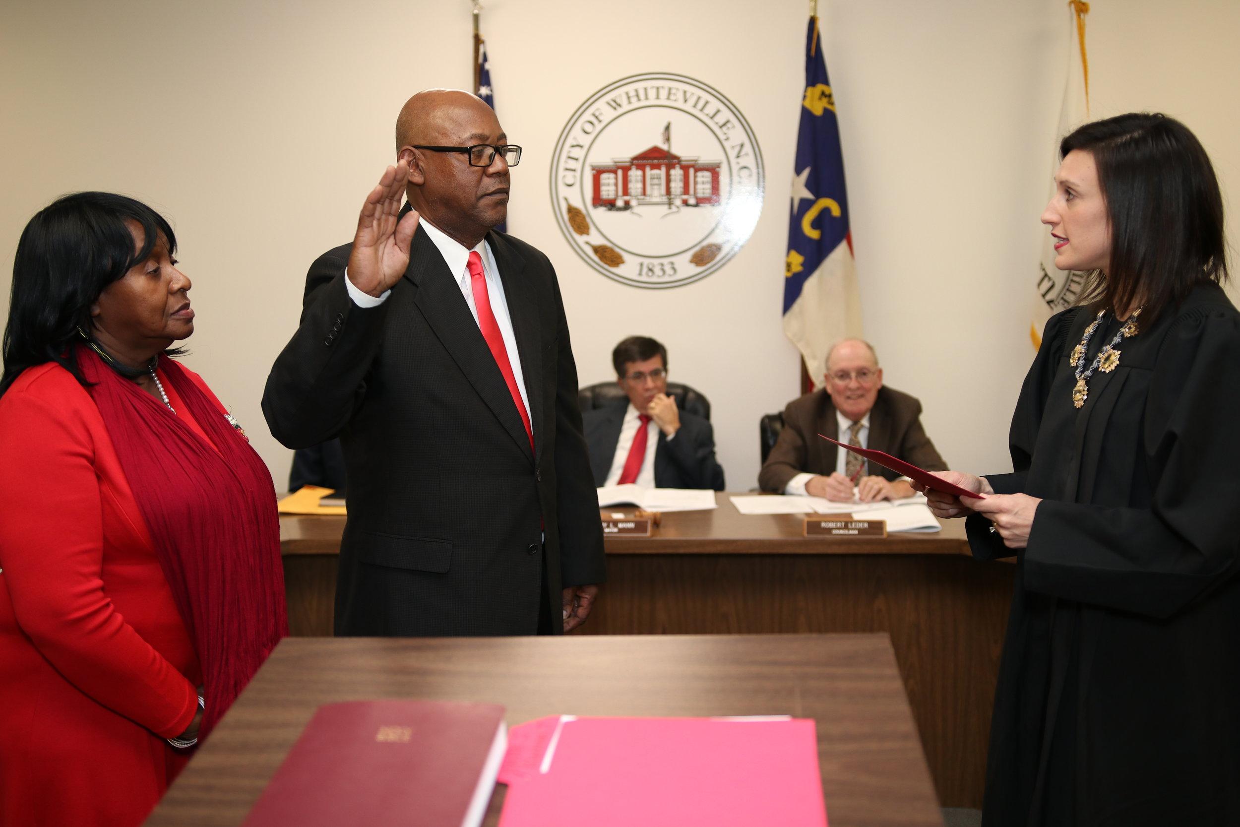 Tim Collier sworn in by judge Ashley Gore