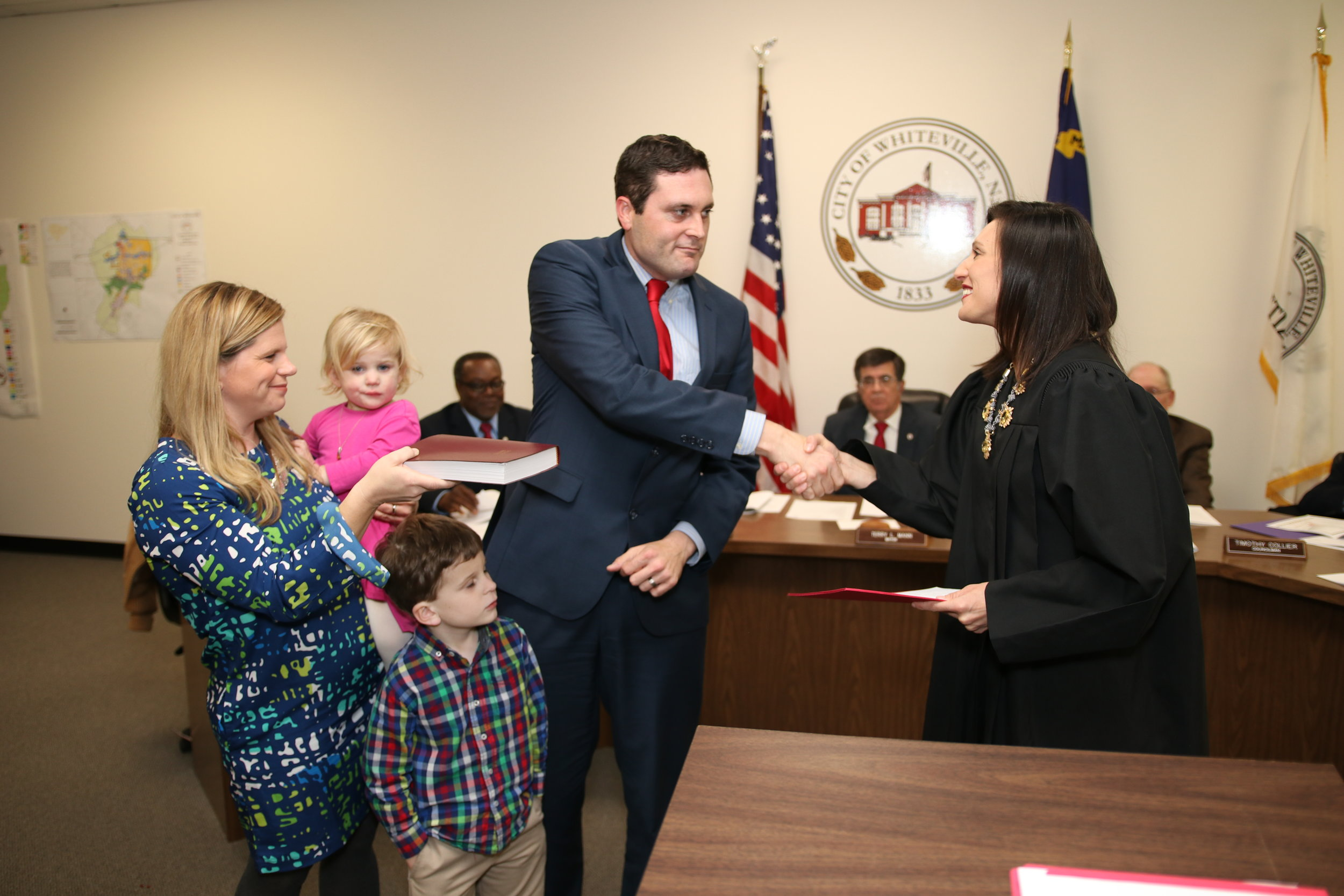 Justin Smith sworn in by judge Ashley Gore