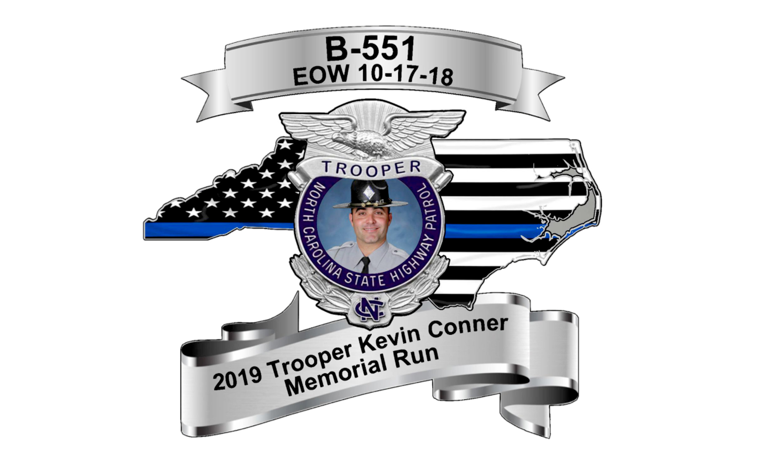 A 5K and !-Mile Fun Run in memory of Trooper Kevin Conner is Oct. 19 in downtown Whiteville. Proceeds will fund a scholarship in his memory.