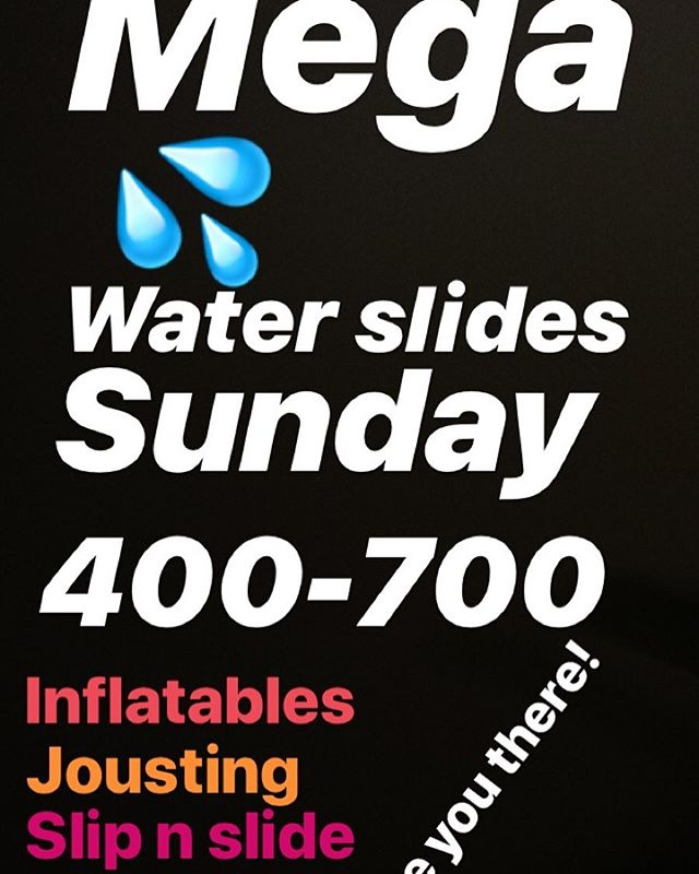 This Sunday is going to 🔥! More like 💧 400-700 we've rented some massive inflatable water slides all for the purpose of YOU and US having some of the most fun ever! Also DUNKING BOOTH! Pay to dunk Clark and all $$ buys gift cards for CCC homeowners. Win win win. See y'all there!!! PARENTS INVITED TOO!!