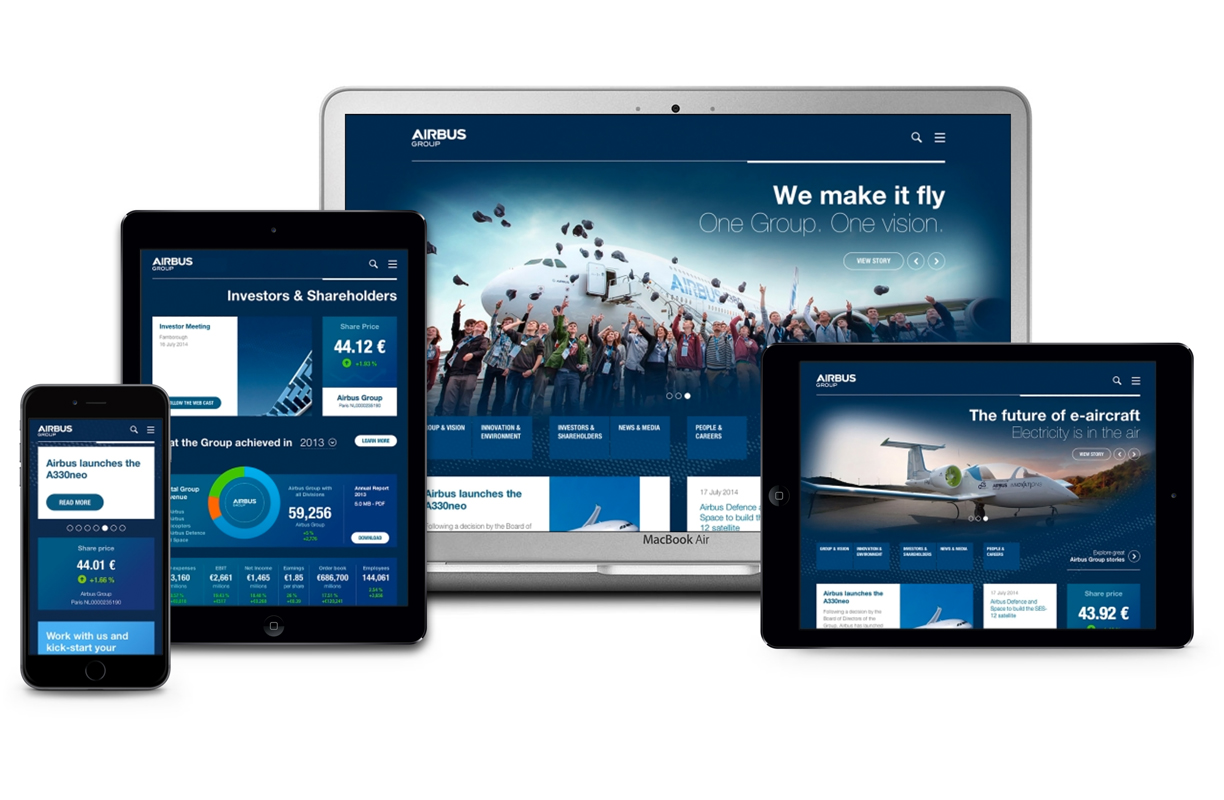 Airbus Group fully responsive website