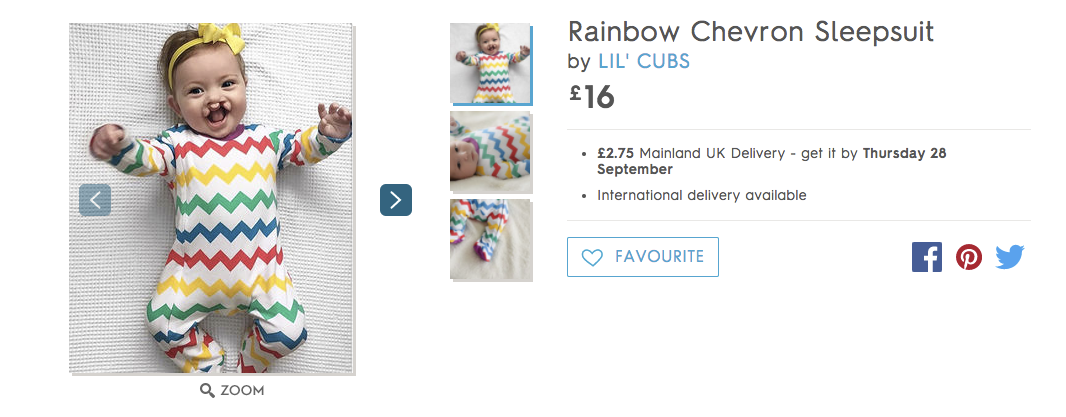 Not On The High Street.com fly in the face of the ordinary by using an image of a child with a cleft palate on its website.