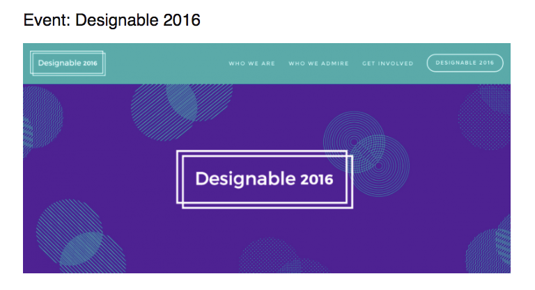Designable 2016 listed as one of Design Week's 5 design things to look out for in November
