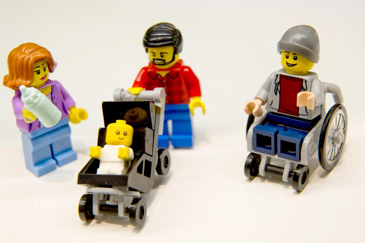 """""""Lego's plastic wheelchair guy is a seismic shift in a toy box. There are 150 million children with disabilities worldwide, yet positive representation is almost non-existent. No wonder the new Lego figure has caused such delight..."""" Rebecca Atkinson talks more about this important progress."""
