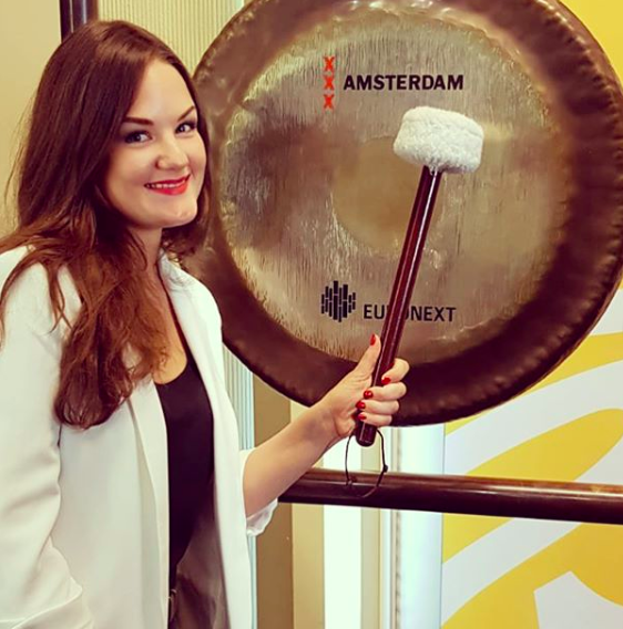 On Sept 5th Our Founder, Marianne woke up painfully early (news in itself) to join the honourees of Forbes' Under 30 list, along with Randall Lane, Forbes Editor to sound the opening and closing gong at Euronext to officially kick off the first-ever Forbes Under 30 Summit Europe.
