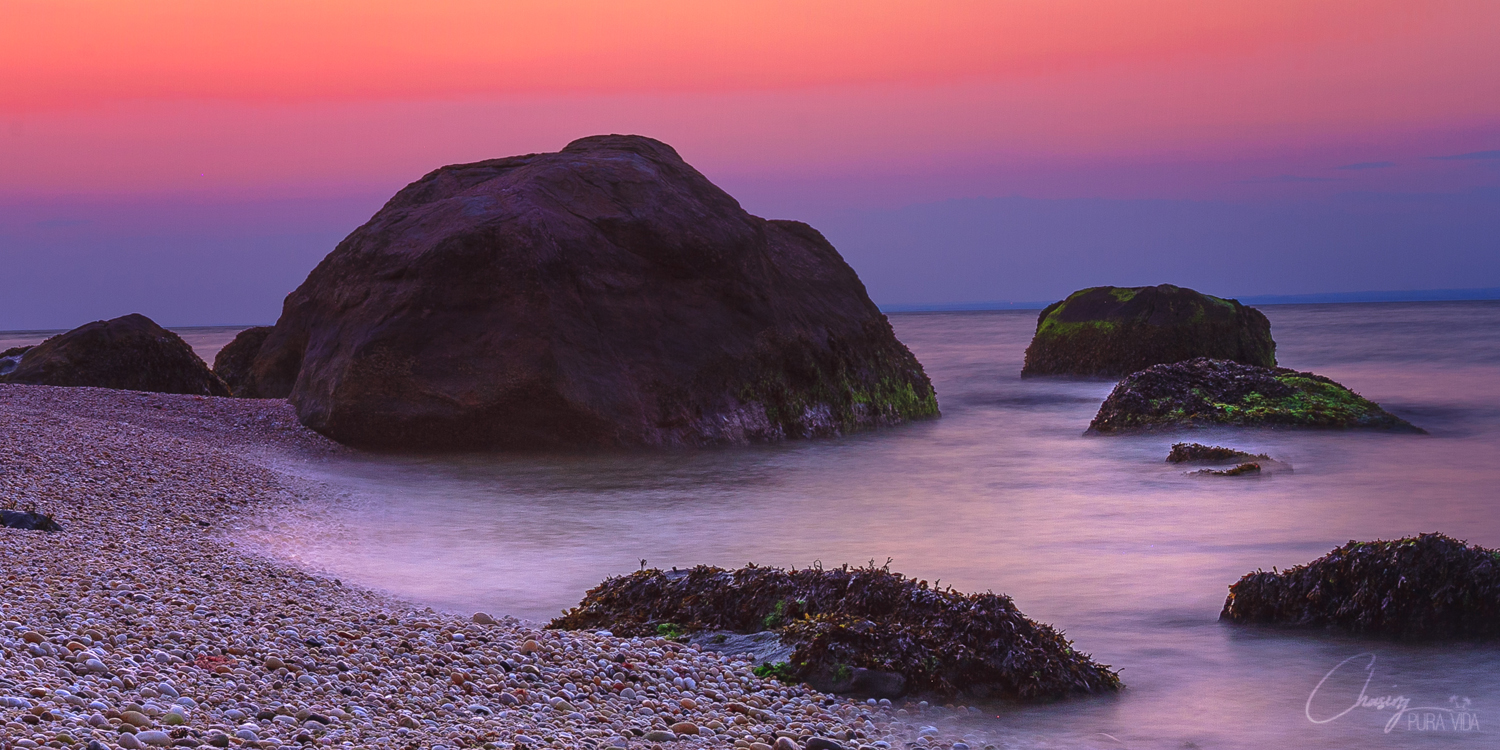After sunset at Rocky Point Rd. Beach in East Marion, NY