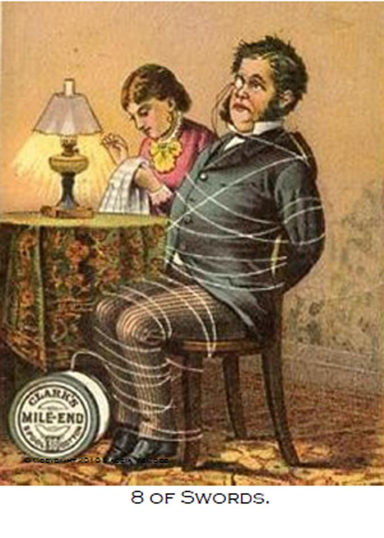 Victorian Trade Card Tarot