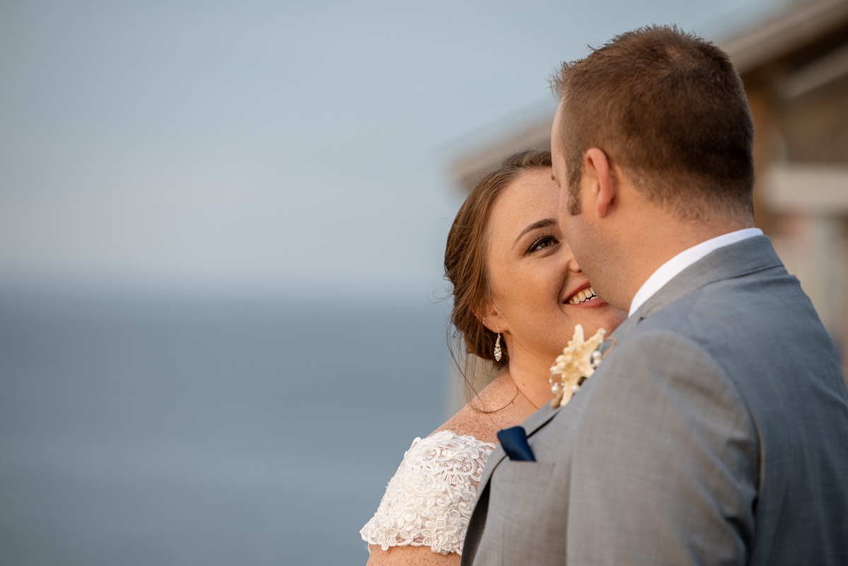 Bride and Groom Photo taken on the Outer Banks of North Carolina.