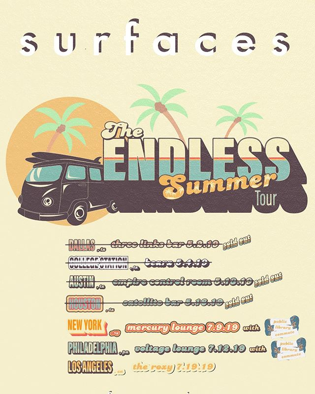 nyc, philly, la - tickets are now live!! these are the last shows of the endless summer tour and we can't wait to see you guys there. ga and vip tickets are available now. link in bio.