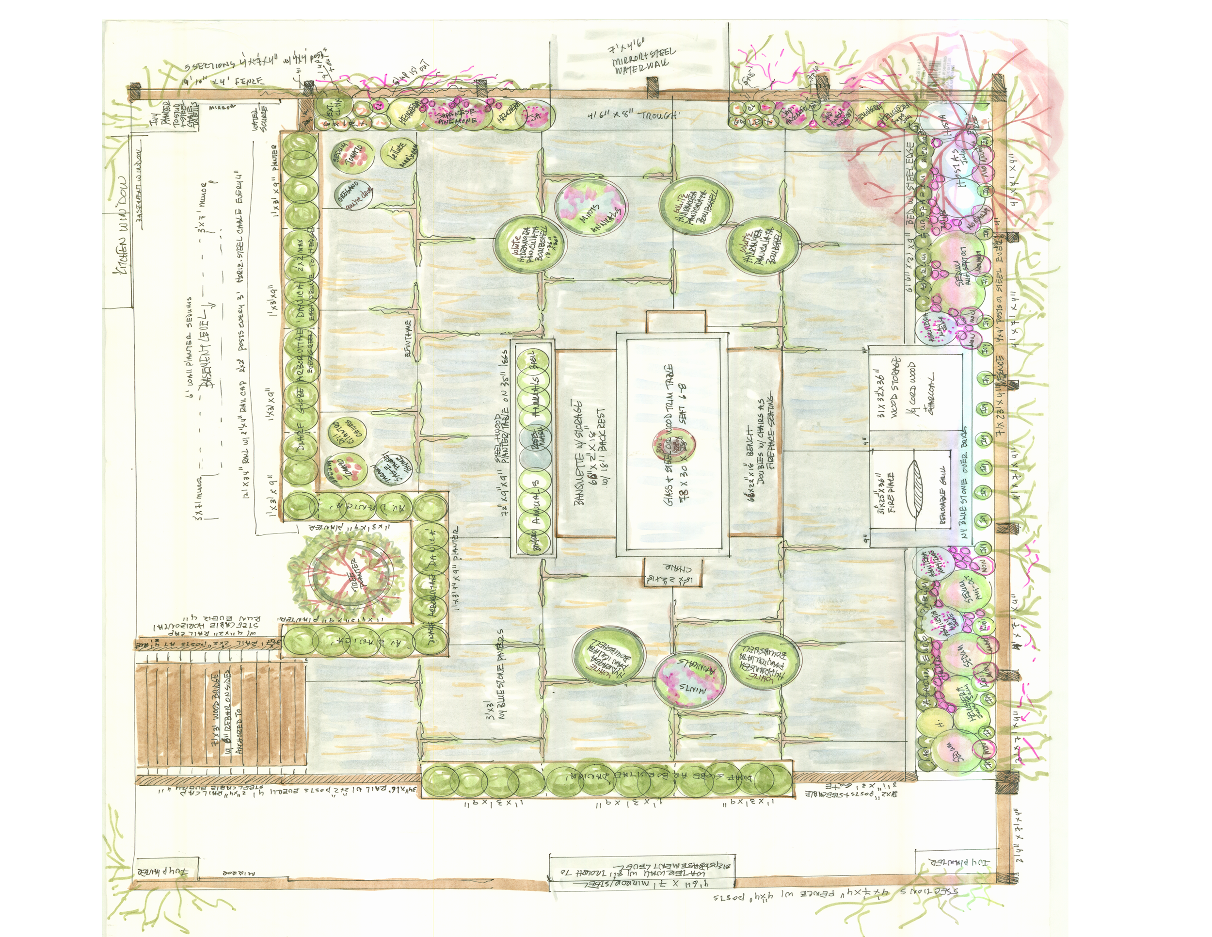 Plan View Drawing Park Slope Garden