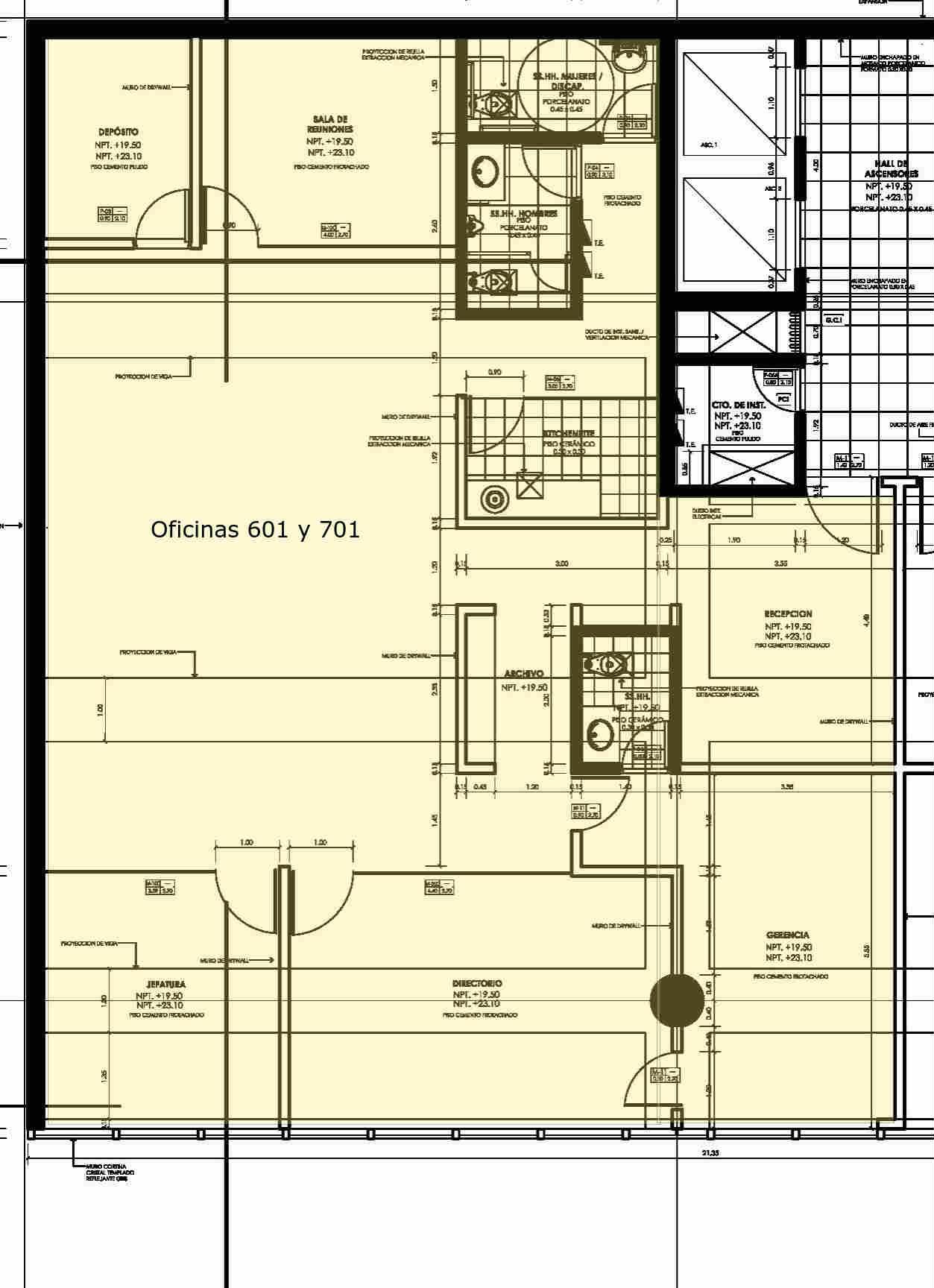oficina 601 y 701