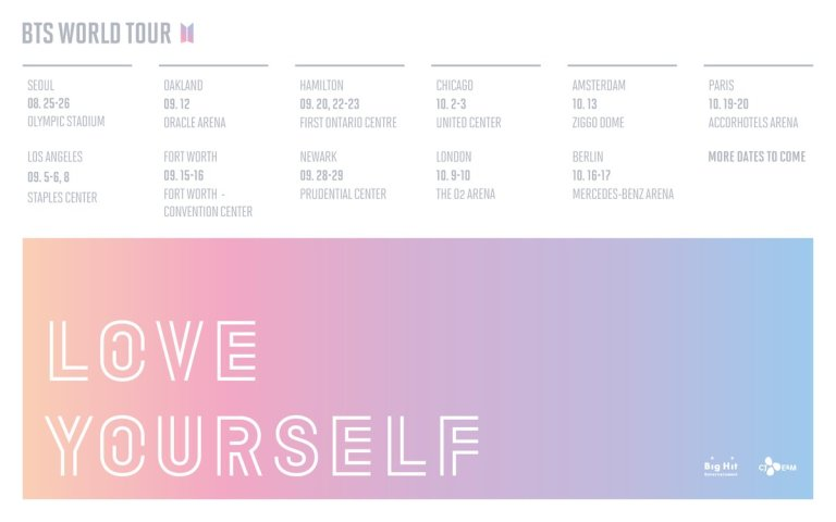 Bts To Come To Uk And Europe For Love Yourself World Tour