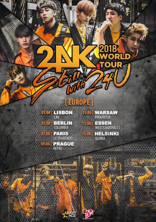 24K Europe Tour dates 2018