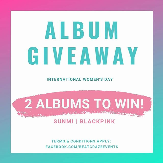 🎁**GIVEAWAY**🎁 2 ALBUMS up for grabs! 💿 #SUNMI (Warning) 💿 #BLACKPINK (Square Up)  Swipe for how to enter➡️ Comment here or on @beatcrazepr just once! 🦄💖 Best Wishes!  Ends: Fri 15th March at 6PM (GMT) 📢 Open to UK & Europe.  T&Cs: https://buff.ly/2EUTtlO #IWD2019 #BCGiveaway #giveaway #Kpopgiveaway