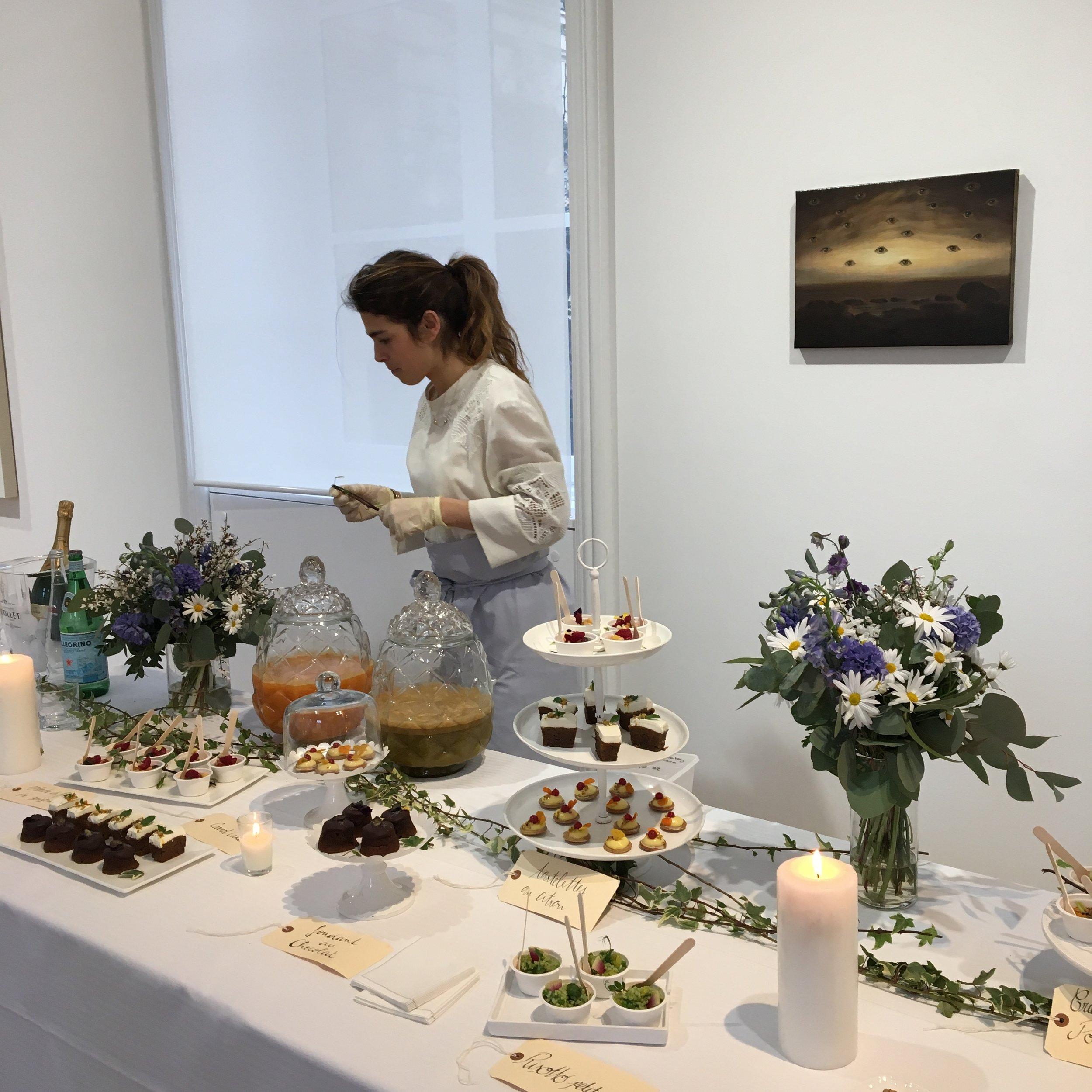 Galerie Perrotin - Buffet & Centres de tables