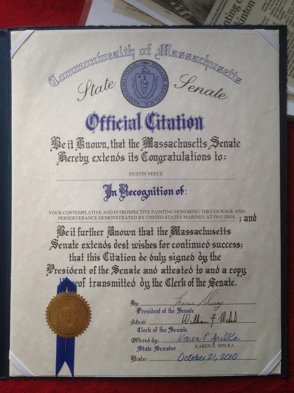 Dustin Neece State Senate Official Citationjpg.jpg