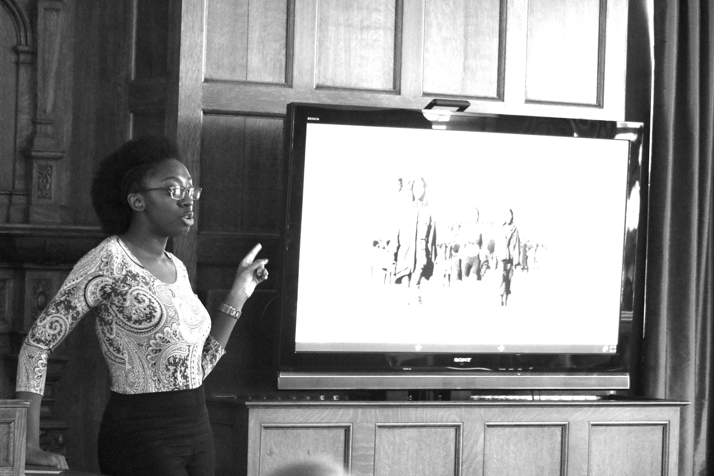 Photo by Dana Pan '20 Nana Konadu Cann '16 spoke Monday, Feb. 13 on the importance of Black Twitter as a form of social activism.