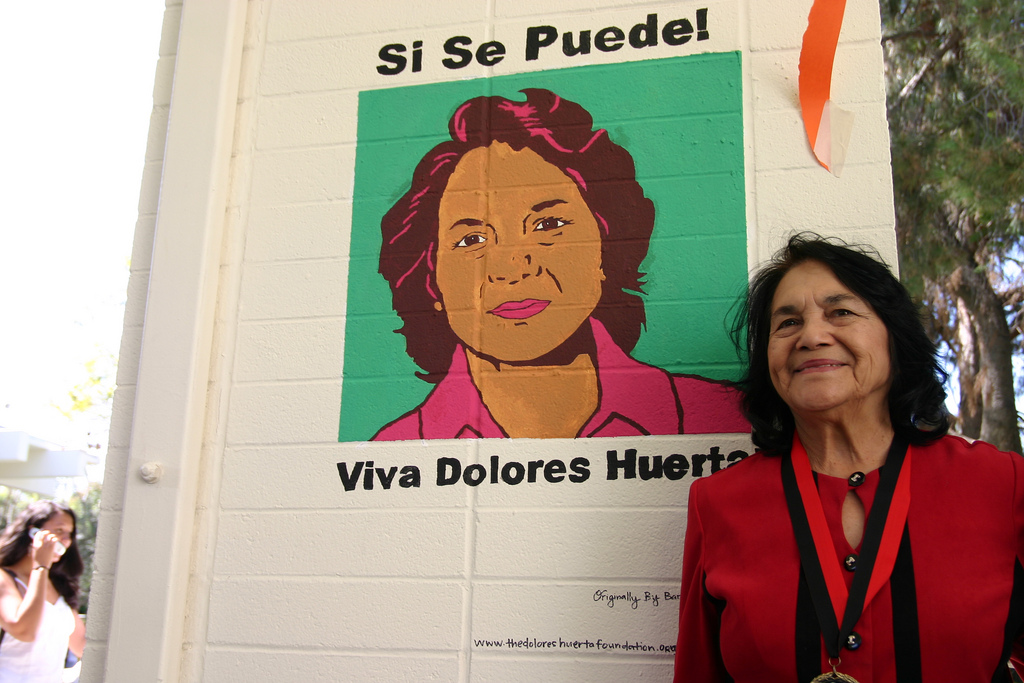 Photo courtesy of Flickr   Dolores Huerta, activist and labor leader, will speak at Mount Holyoke's Commencement this May.
