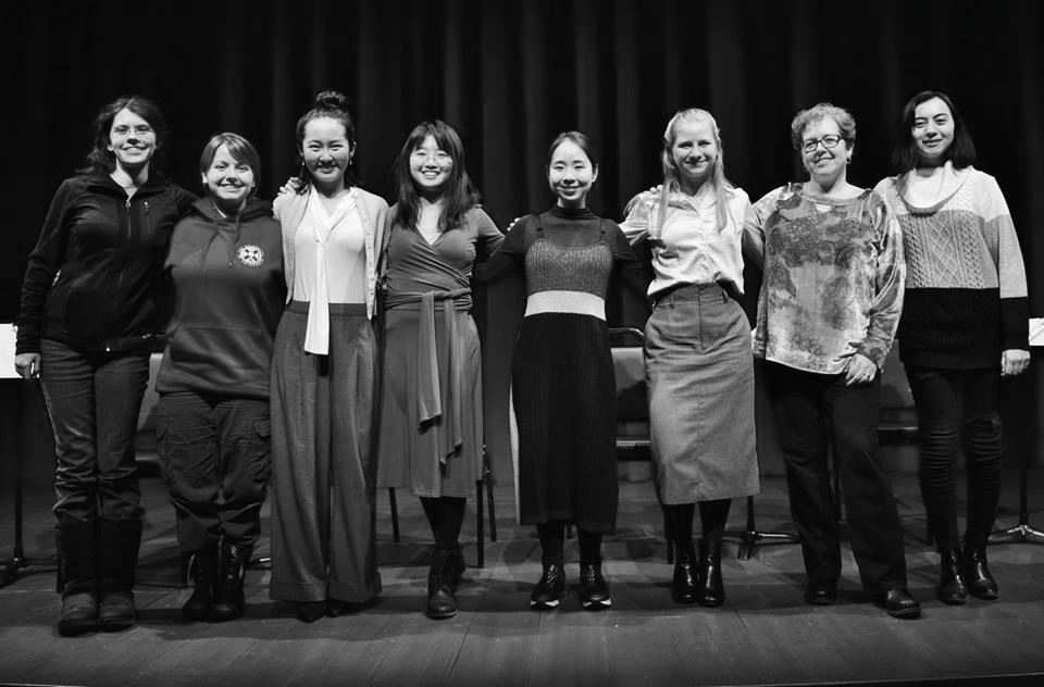 """Photo Courtsey of Rooke Theatre  Performers and members of Rooke Theatre pose after a performance of """"Question 27, Question 28"""" on Friday. A second show was held on Saturday."""