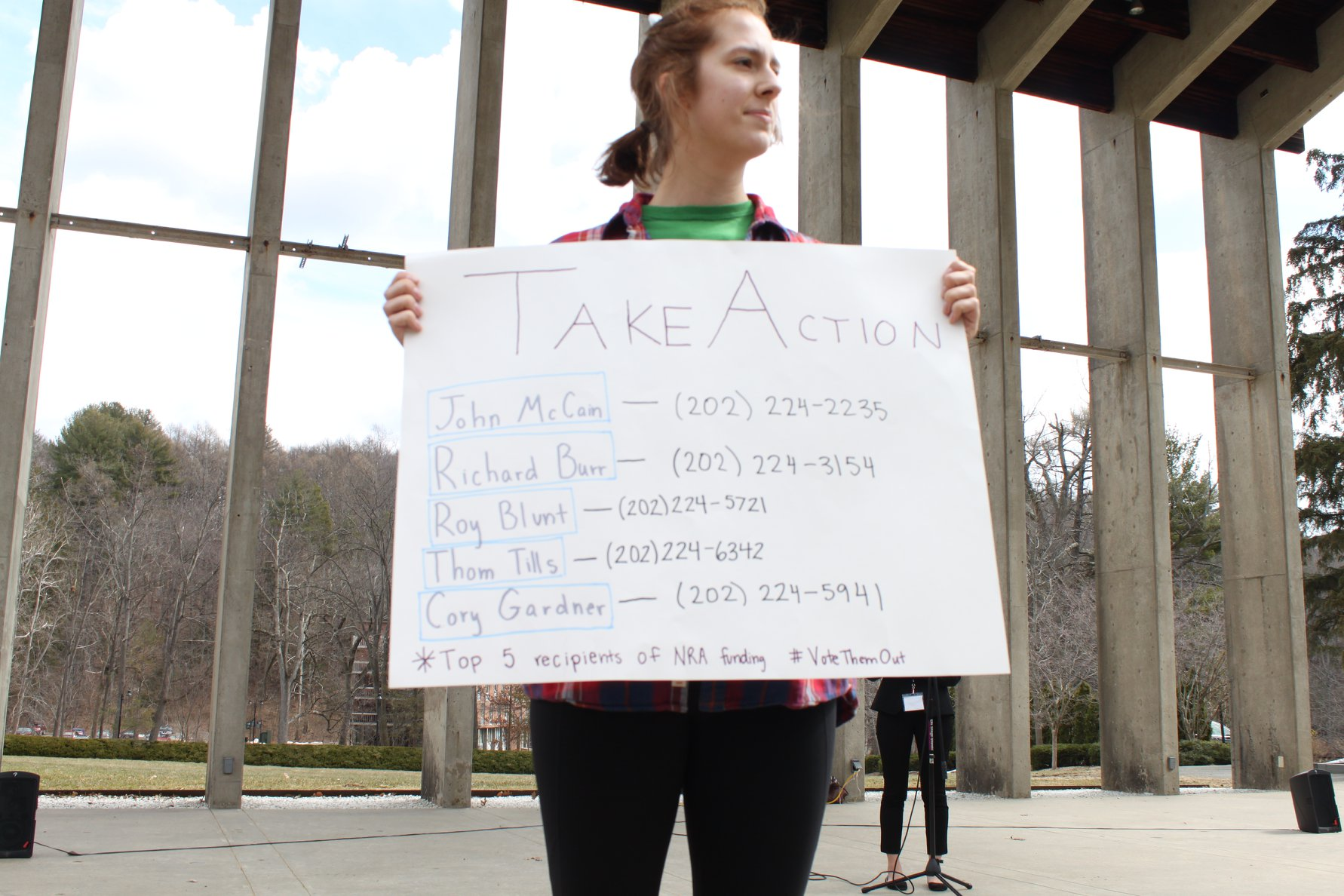 Photo by Kiely Quinn '21    Lydia Henning '21 encourages students to take action.