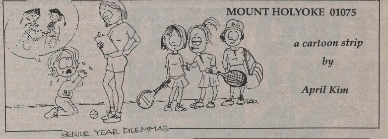 A Feb. 6, 1992 comic illustrates the physical education requirement crisis that seniors still experience today.