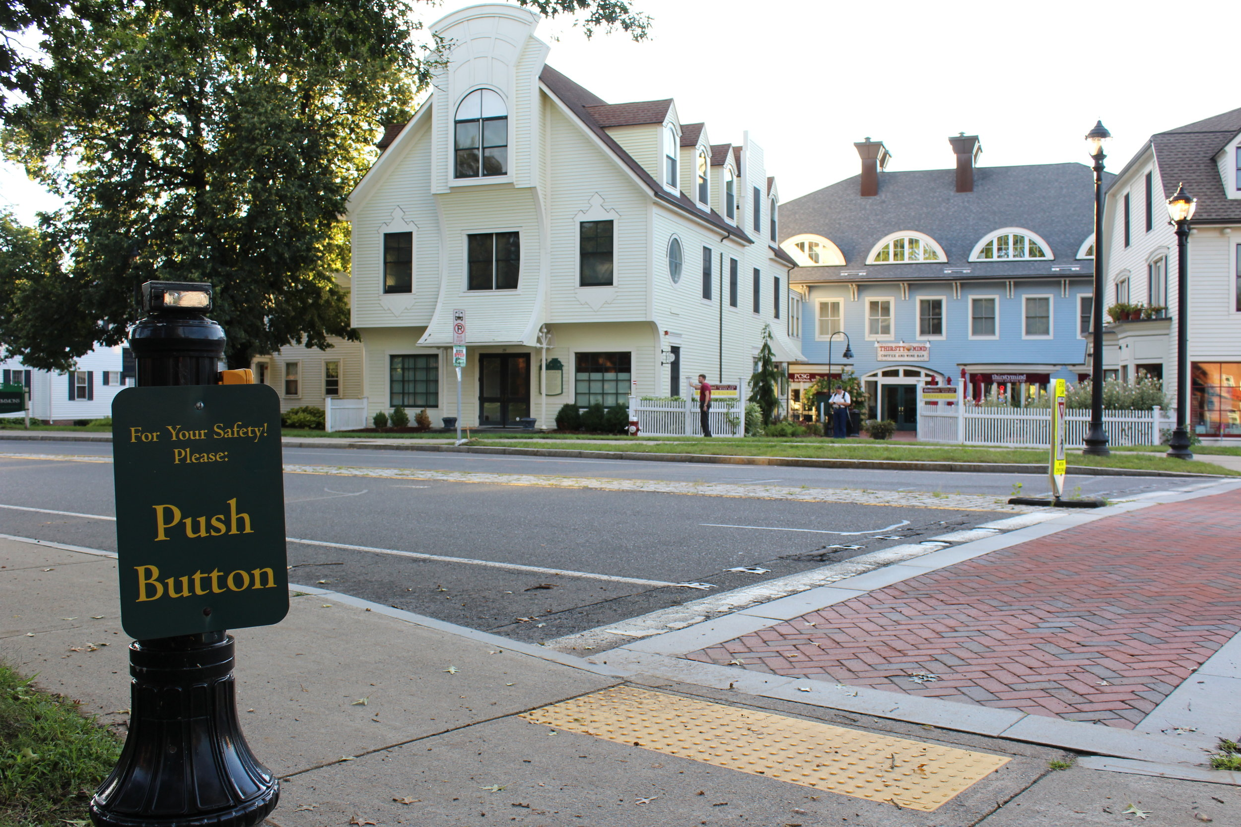 Photo by Izzy Burgess '19  South Hadley was one of 22 towns awarded a grant to improve street safety for walkers, bikers and drivers.