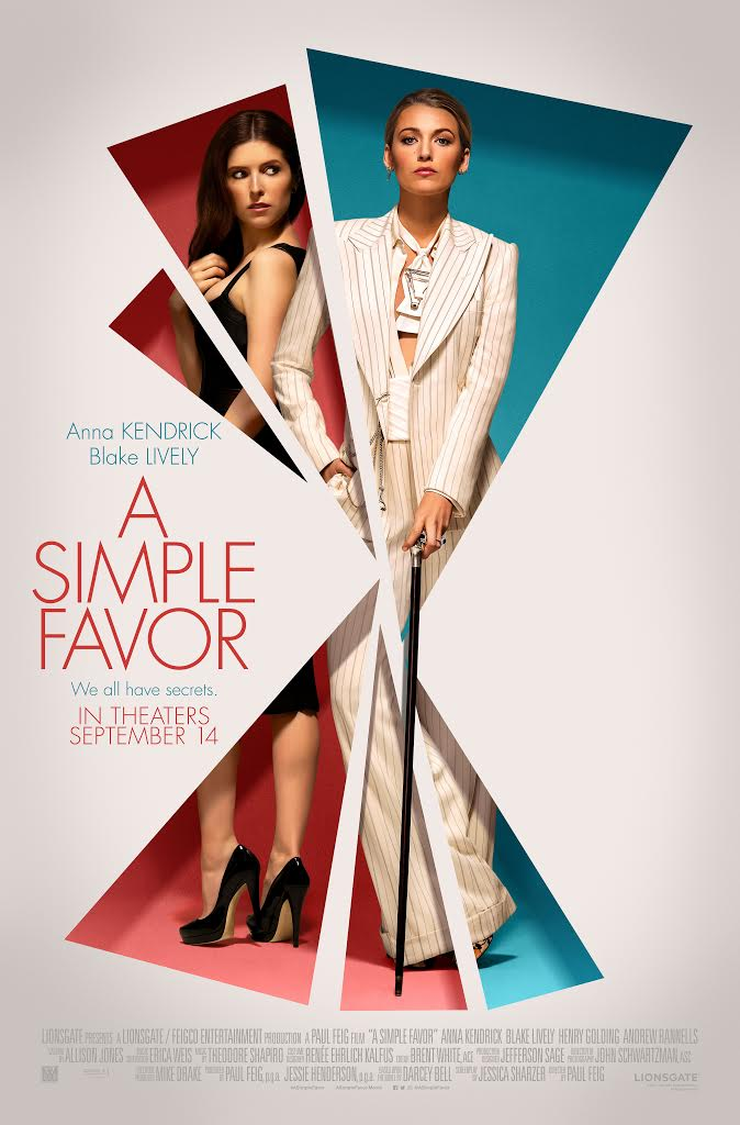 """Photo courtesy of Flickr  Anna Kendrick and Blake Lively in """"A Simple Favor"""""""
