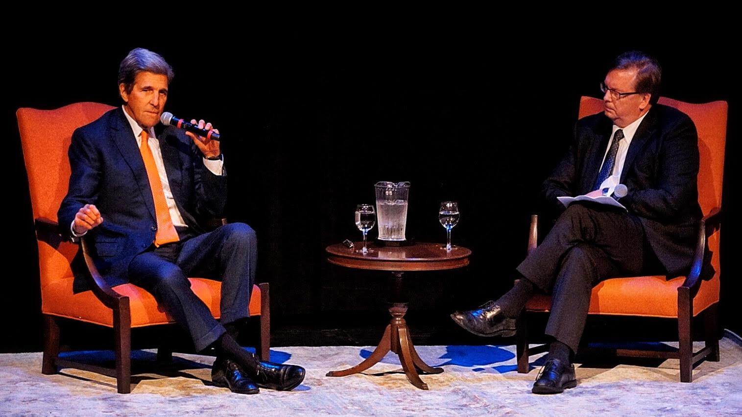 Photo by Ting'an Lu '21  John Kerry, former secretary of state and Massachusetts senator, spoke at Mount Holyoke on Tuesday.