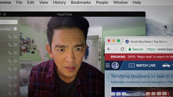 """Photo courtesy of Flickr   David Kim (John Cho) investigates the disapearance of his daughter from behind a computer in """"Searching."""""""