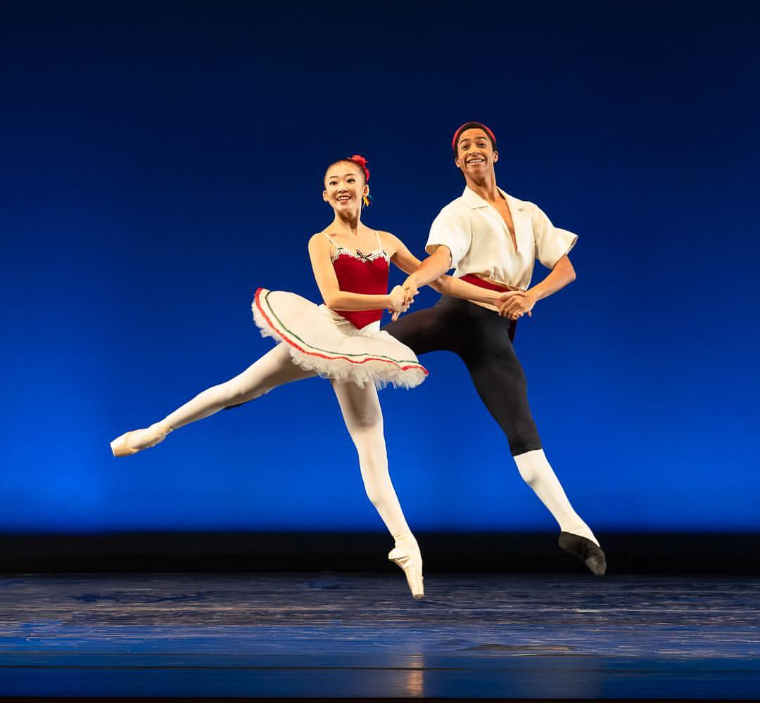 "Photo courtesy of Kyle Froman  Members of the American Ballet Theatre Studio Company perform opening duet ""Tarantella."""