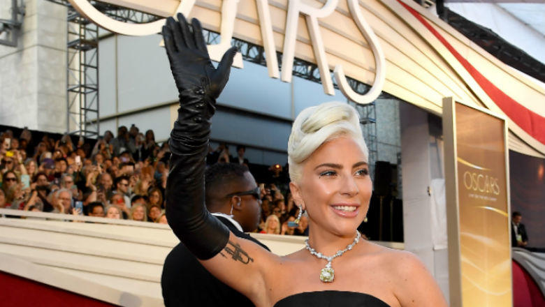"Photo courtesy of Wikimedia Commons   Lady Gaga of ""A Star is Born"" pictured on the 2019 Oscars runway."