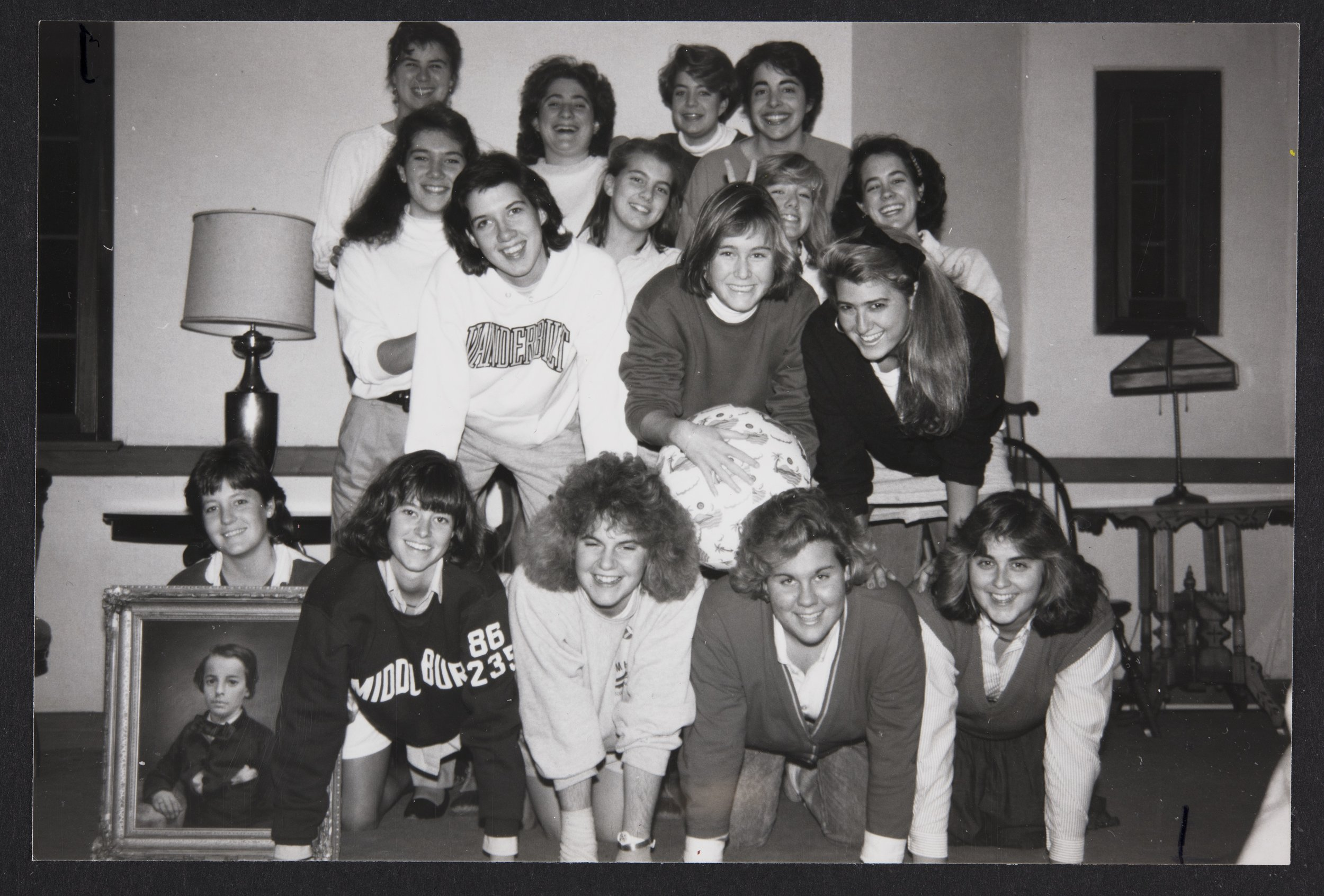 Photo courtesy of Archives and Special Collections The 1987-1988 Mount Holyoke Water Polo Club poses for a group photo. The club, which existed from 1984-1996 and met in the fall and the spring, was dedicated to teaching members the rules of the game and perfecting skills and techniques for matchups against other colleges.