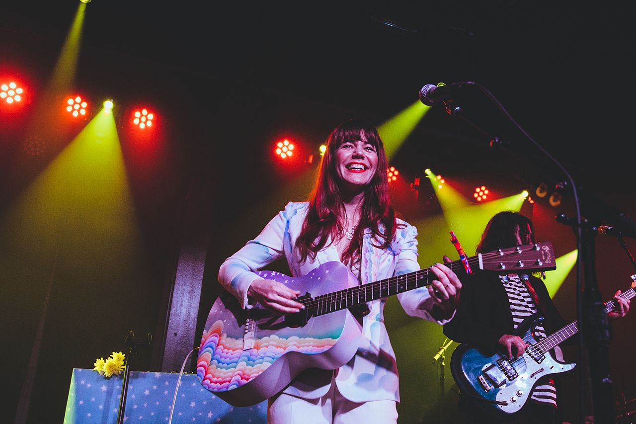 "Photo courtesy of Wikimedia Commons   Jenny Lewis on tour for her second album, ""The Voyager,"" in 2014"