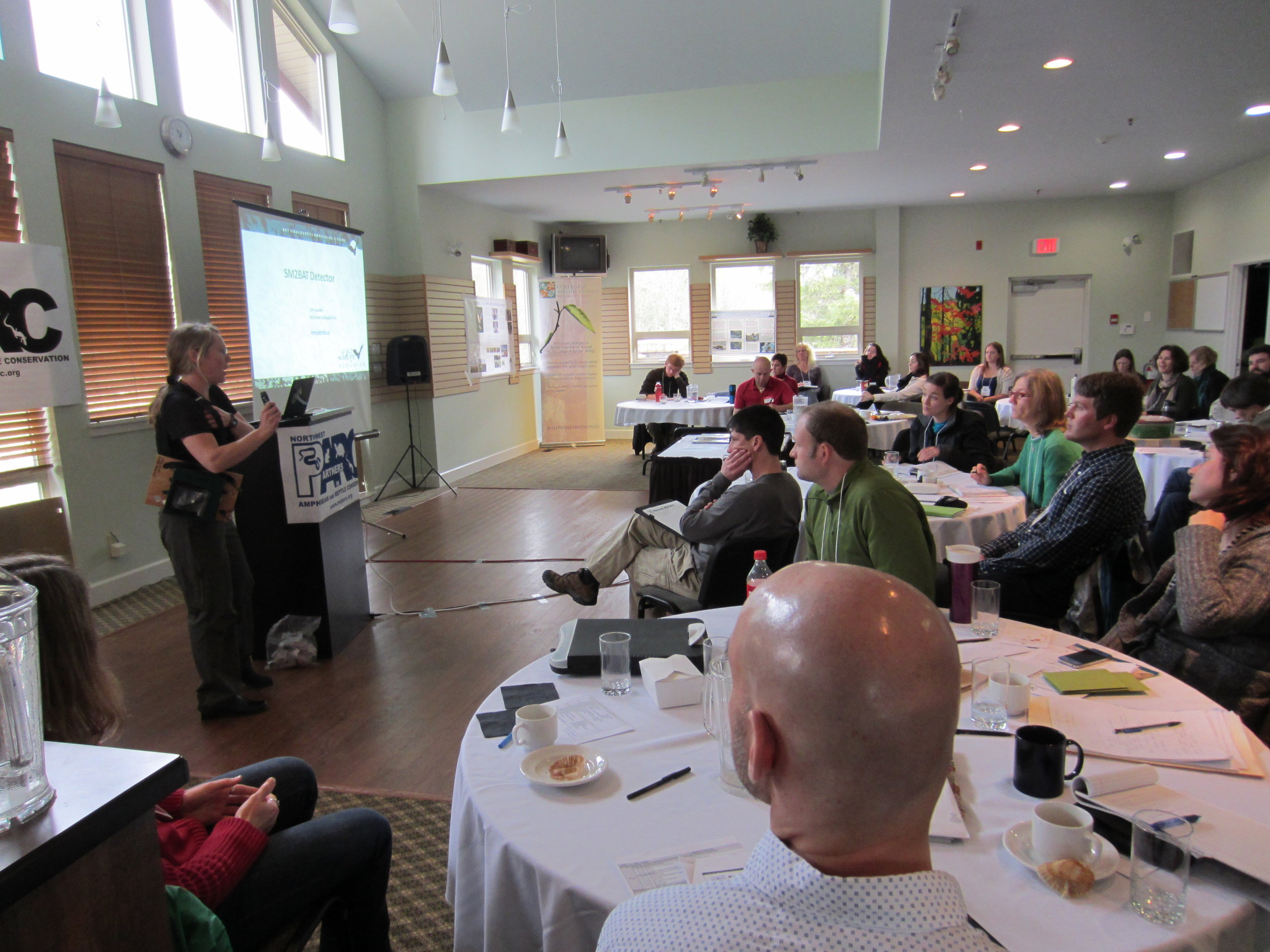 Cori Lauson of Wildlife Conservation Society Canada presenting her work.(Photo by Betsy Howell)