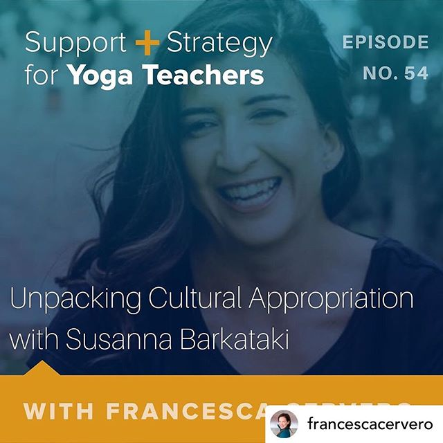 My practice began as one based in building a better relationship with myself. It has evolved over the years to include that still, but become much more focused on how I am in relationship with the world around me. ⠀⠀⠀⠀⠀⠀⠀⠀⠀ I finally got to listen to this conversation between @susannabarkataki and @francescacervero and it really met me at this place in my journey. ⠀⠀⠀⠀⠀⠀⠀⠀⠀ So much good stuff to consider here, I recommend giving it a listen. ⠀⠀⠀⠀⠀⠀⠀⠀⠀ Repost • @francescacervero My spiritual practice is one that asks me to wake up to the world as it is. ▫️ My spiritual practice asks me to be strong enough to see the truth about our society and understand my place in it. My spiritual practice values equity for all people and has a deep reverence for our inherent interdependence as a species. ▫️ My spiritual practice has always understood that I am not free until all people are free. ▫️ The evolution of this path led me to anti-racism work. As I began to see how living in a White Supremacist culture has infected everything I understand about myself and our world I was led to the work of dismatling the White Supremacy that is inside me, as the very important first step in dismantling White Supremacy out in the world. ▫️ As I continue to walk down this path I ran face first into a wall. As a white woman teaching yoga is there any way to do that without appropriating and stealing from a culture that is not my own? ▫️ I don't have an answer for that question.  From my perspective, as a person  committed to creating and supporting a better world for all people, it seems important that I get used to the discomfort that comes from living in the questions. ▫️ Many of you are sitting with these questions as well, and I appreciate you reaching out to me to ask for support on this path. In my role as a mentor I am committed to holding space for difficult conversations and asking (hopefully) thoughtful questions. ▫️ We are so so lucky to have Susanna Barkataki joining us on The Mentor Sessions to bring her lived experience, wisdom and expertise to these questions. ▫️ @susannabarkataki helps yoga teachers, studios, nonprofits and businesses *continued in comments*