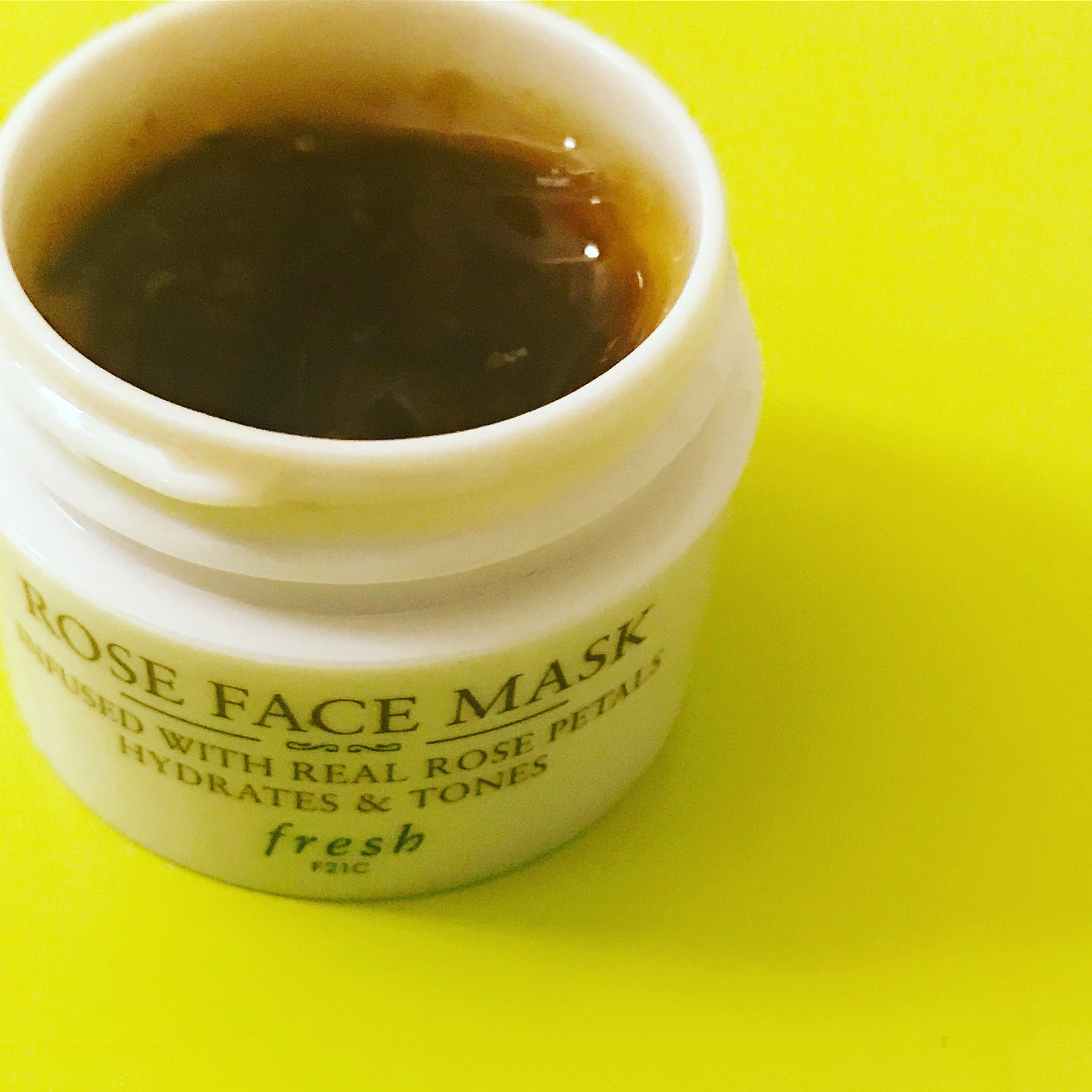 Fresh Rose Face Mask - It smells like a bed of roses and has real rose petals!