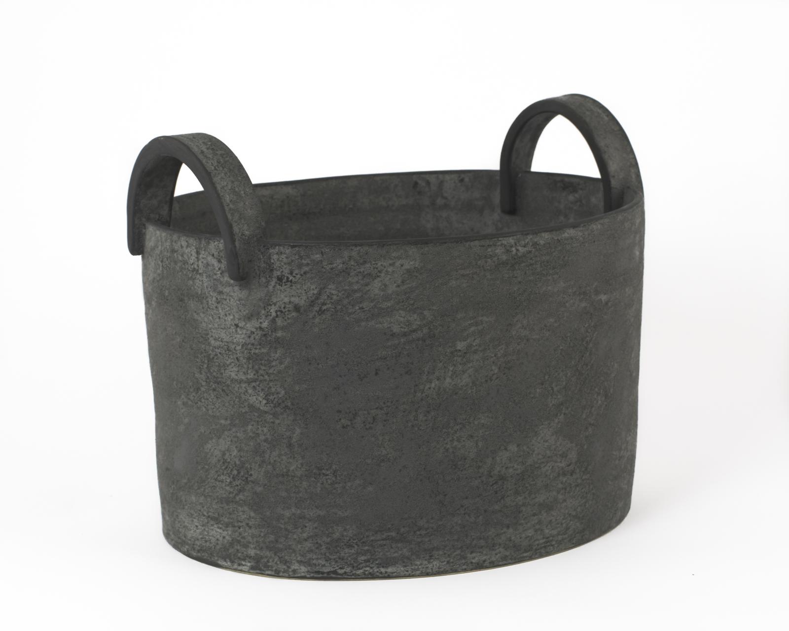 "Charcoal Bucket with Handles 12""x7""x8"""